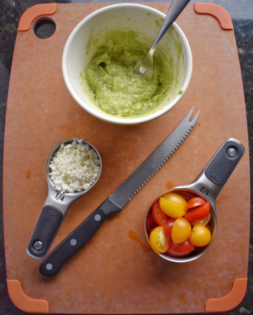 Ingredients for Quinoa with Avocado Dressing