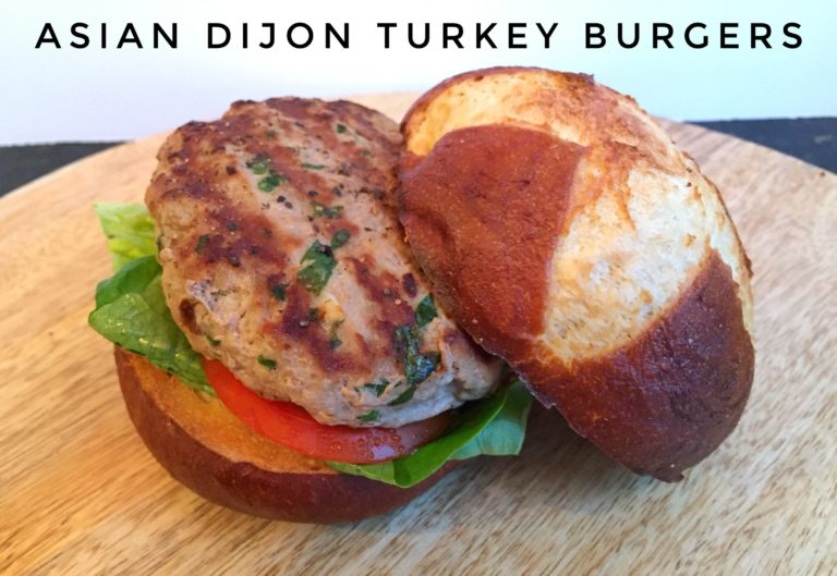 Asian Dijon Turkey Burgers Main