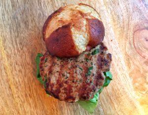 Asian Dijon Turkey Burgers Top
