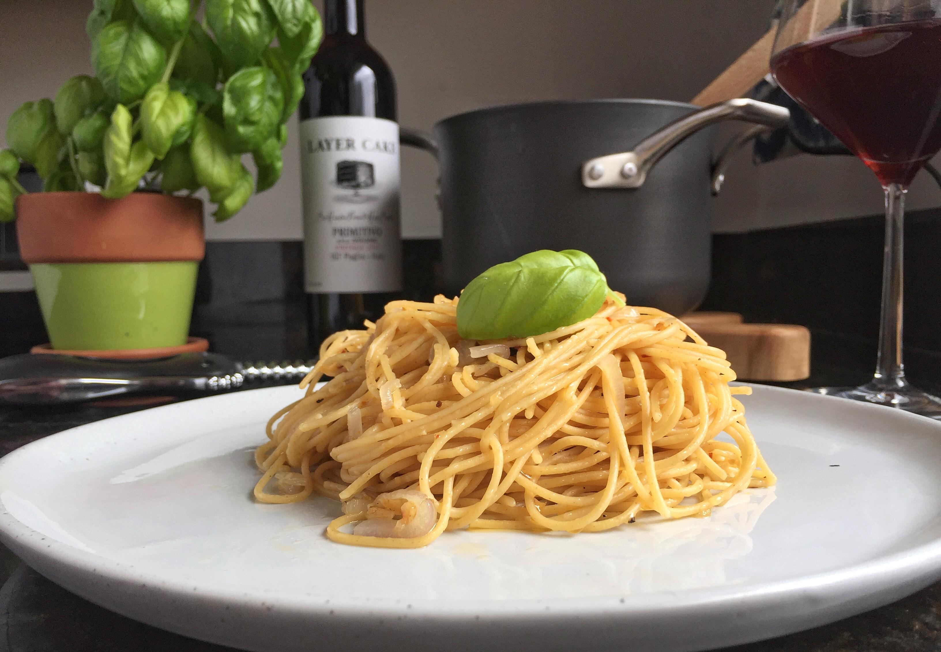 how to make garlic oil pasta