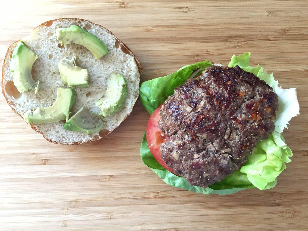Healthy Bison Burger Top