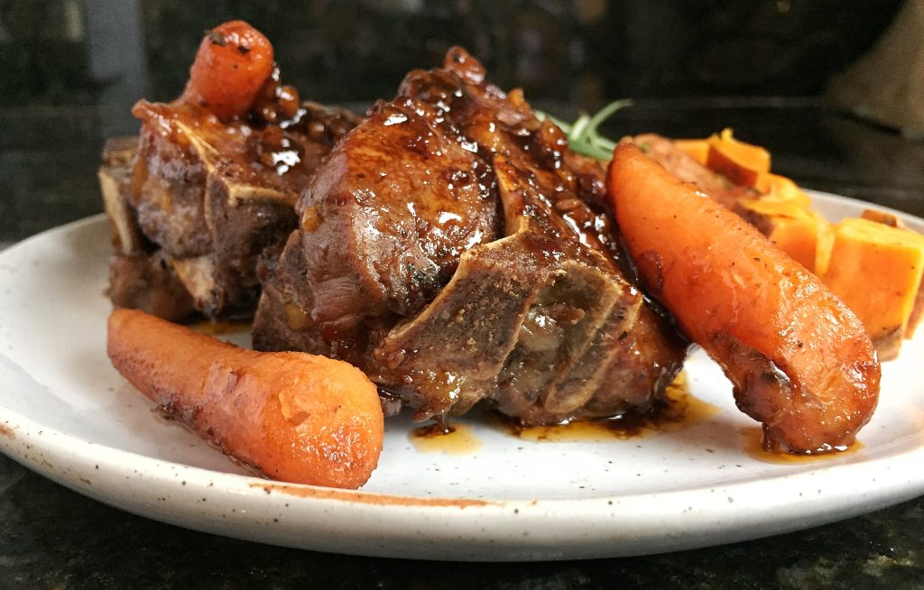 Braised Guinness Lamb Chops Side