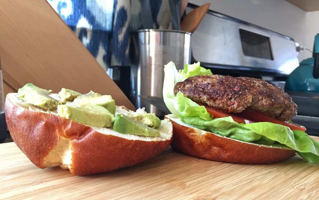 Healthy Bison Burgers Side