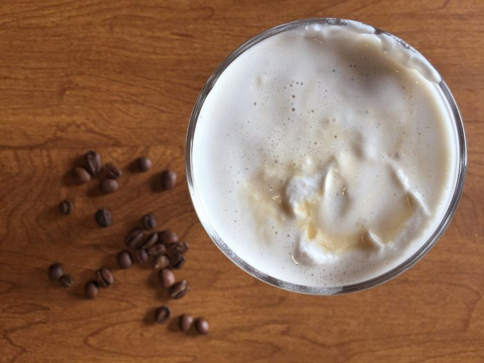 Irish Coffee with Coconut Whipped Cream