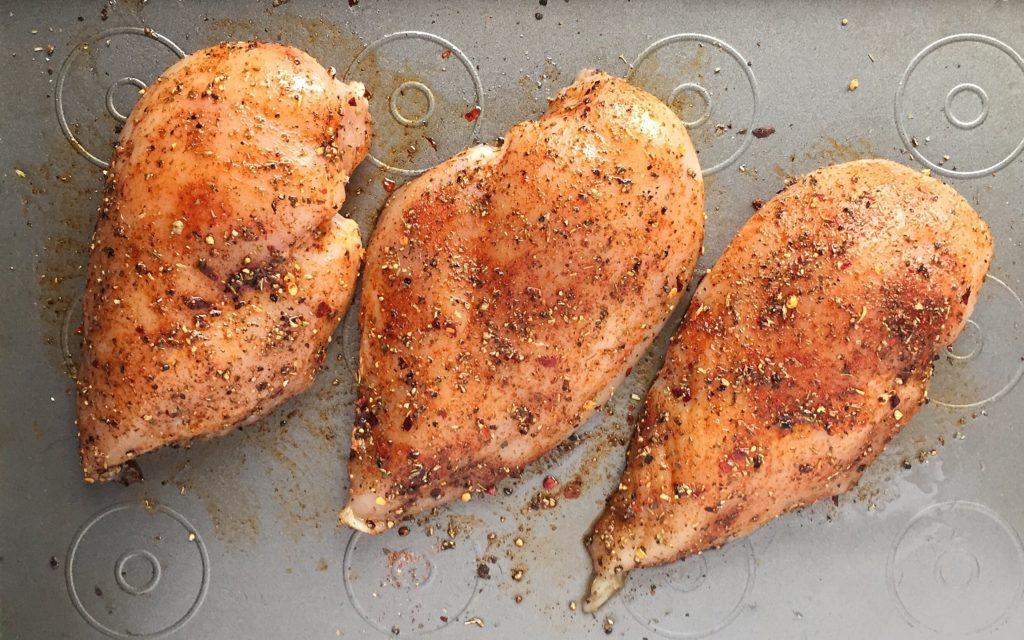 Blackened Chicken Pitas Ready to Bake