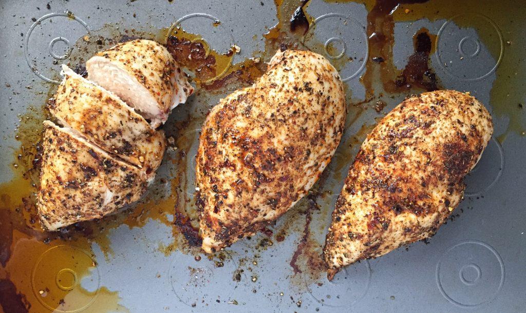 Blackened Chicken Pitas Done