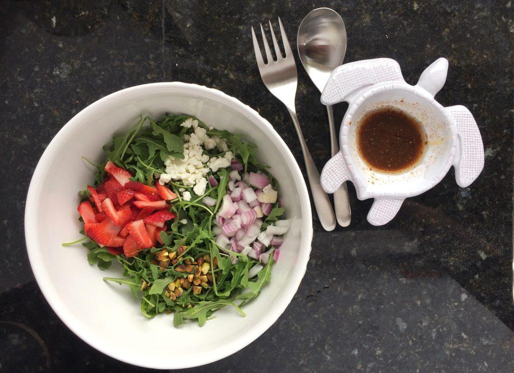 Spring Arugula Salad with Dressing