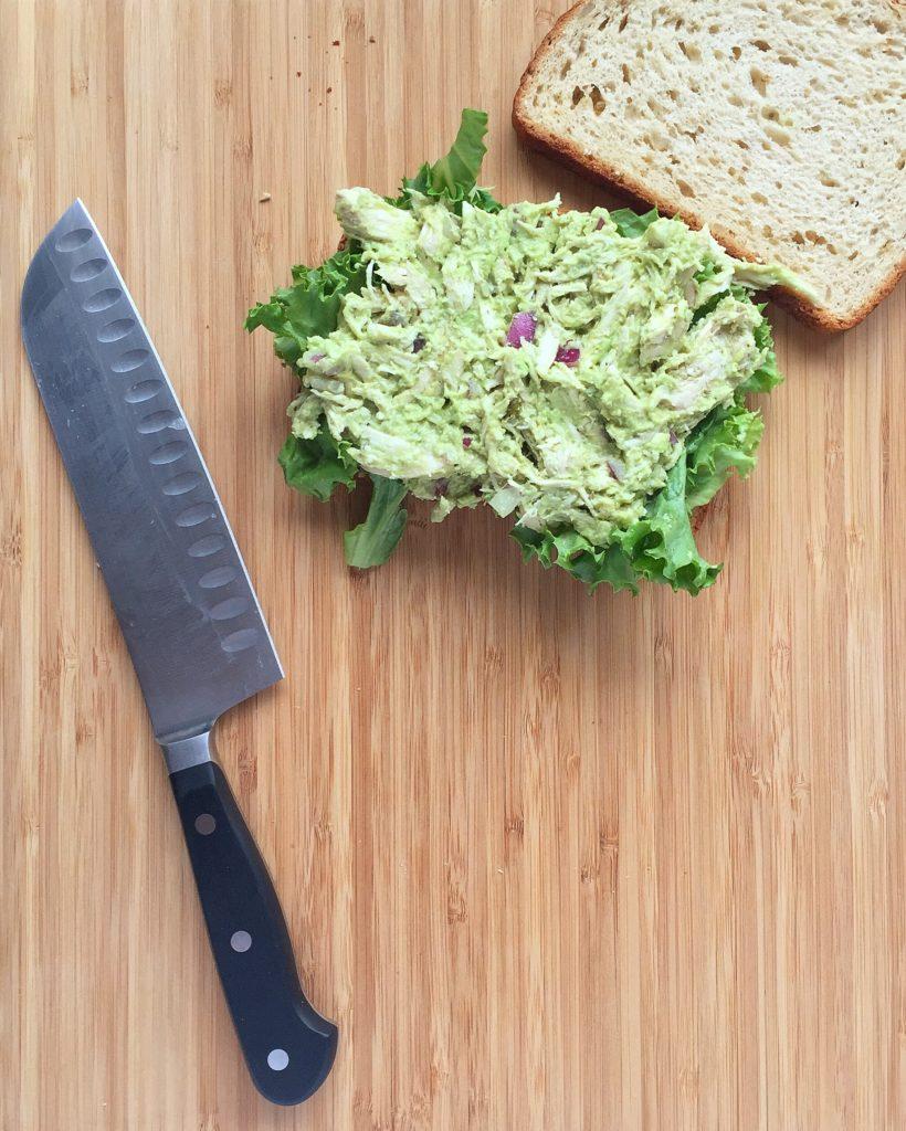 Slow Cooker Avocado Chicken Salad Sandwich