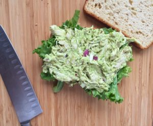 Slow Cooker Avocado Chicken Salad Sandwich
