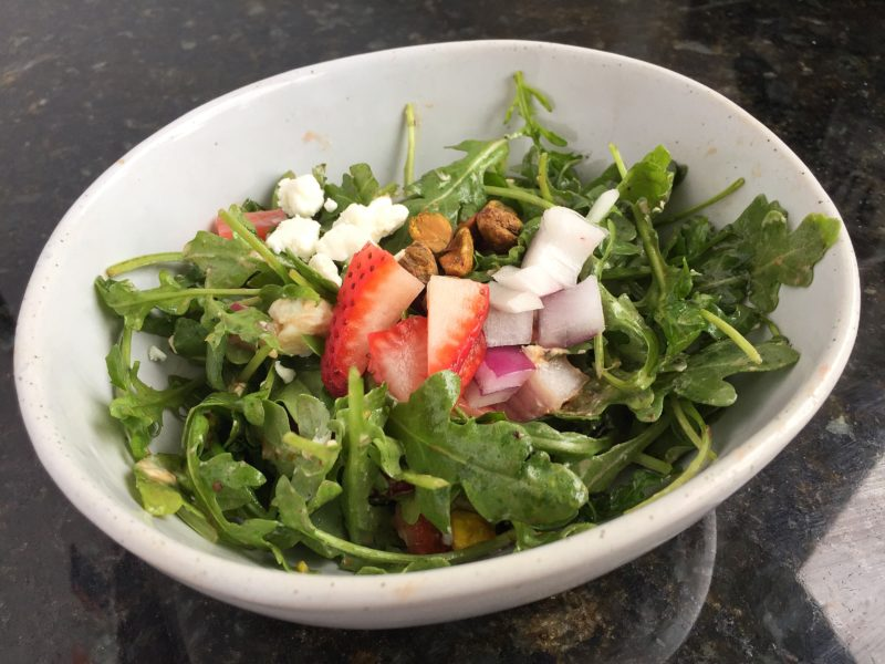 Spring Arugula Salad with Homemade Balsamic Dressing