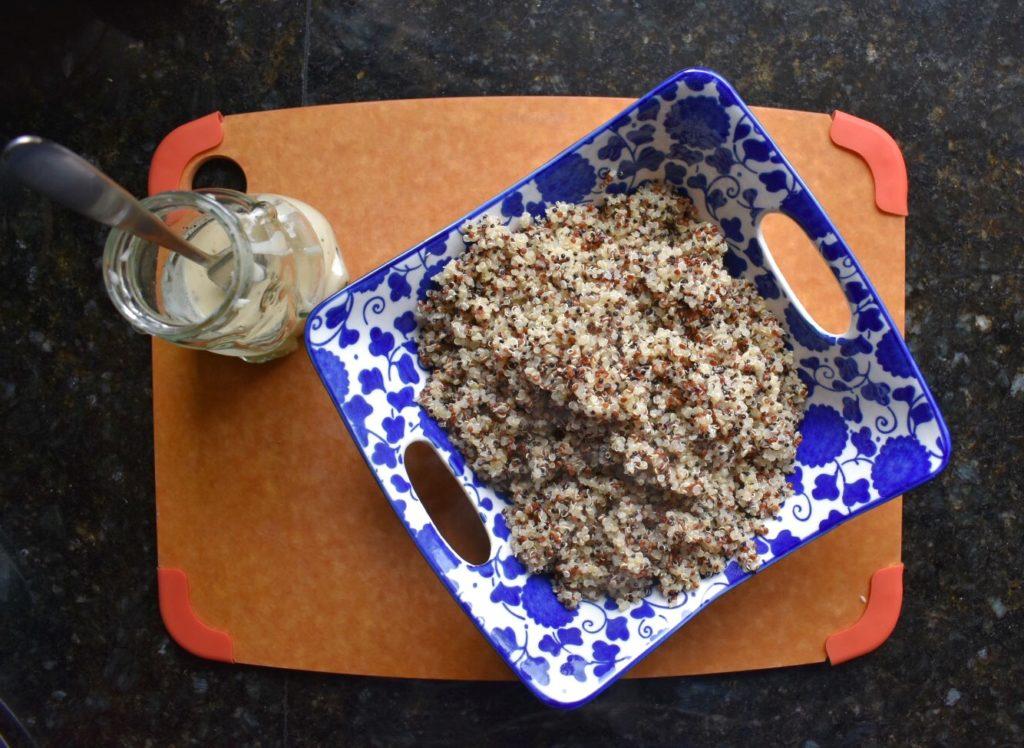 Basil Quinoa and Chickpea Salad Quinoa
