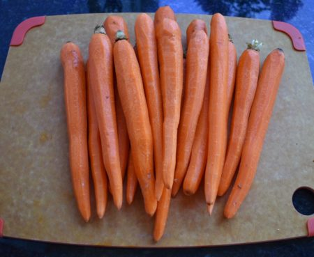 Roasted Tahini Ginger Carrots Raw