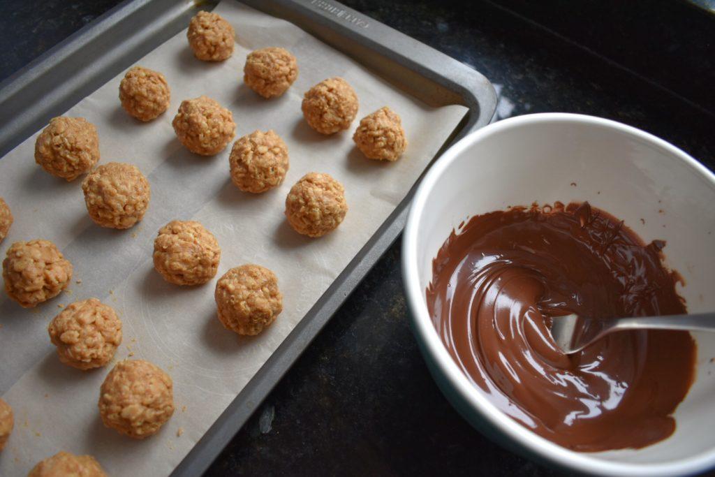 No Bake Peanut Butter Balls Chocolate Prep