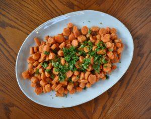 Roasted Tahini Ginger Carrots