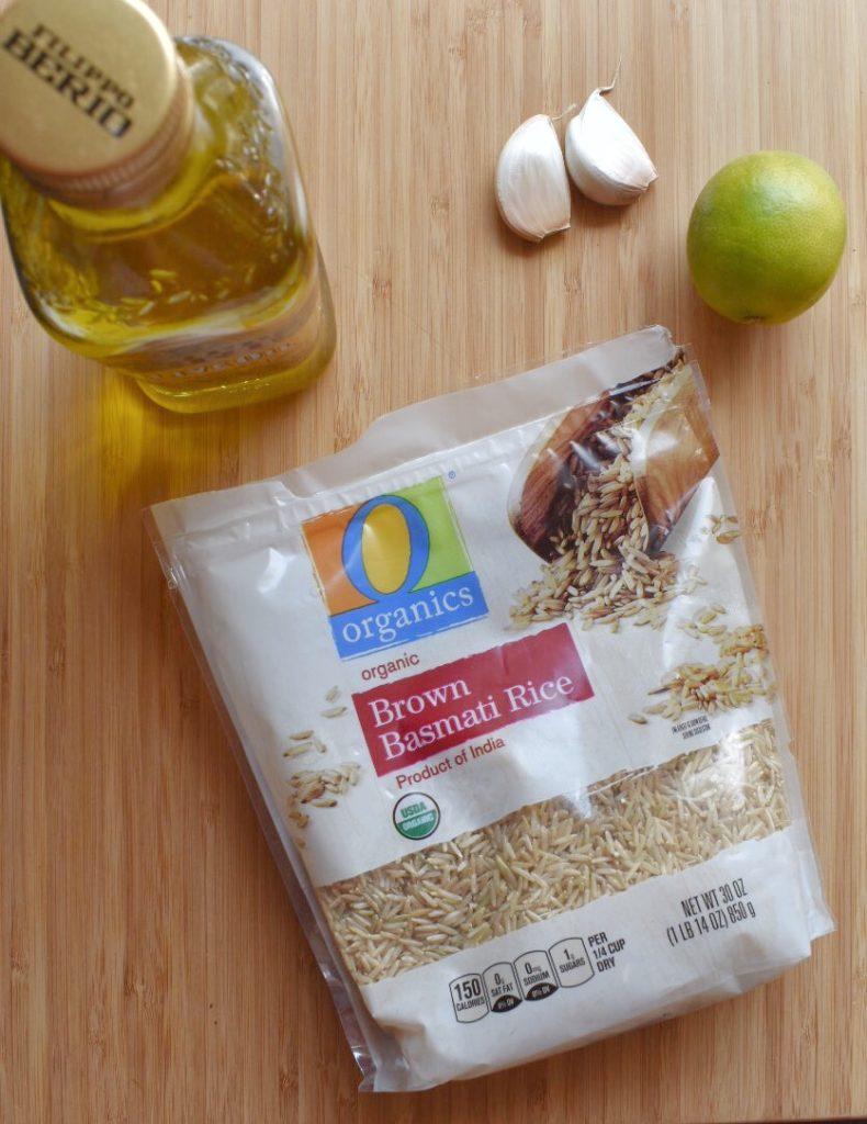 Easy Cilantro Lime Rice Ingredients