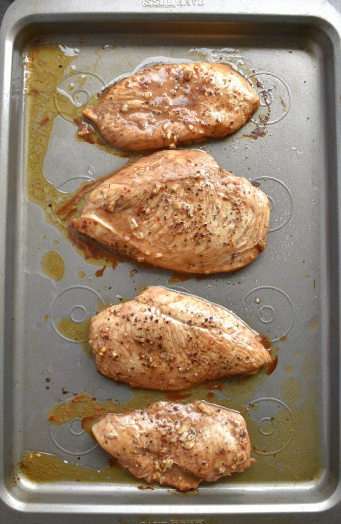 Spicy Honey Balsamic Chicken Baked