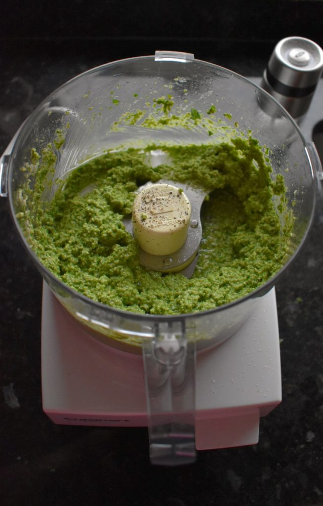 Arugula Walnut Pesto Blended