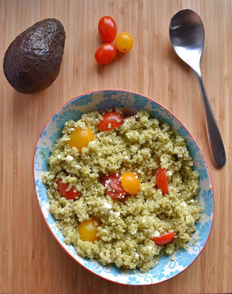 Quinoa with Avocado Dressing