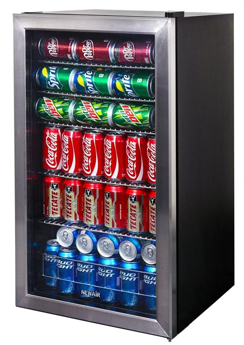 126-Can Capacity Mini Bar Beer Fridge with Right Hinge Glass Door