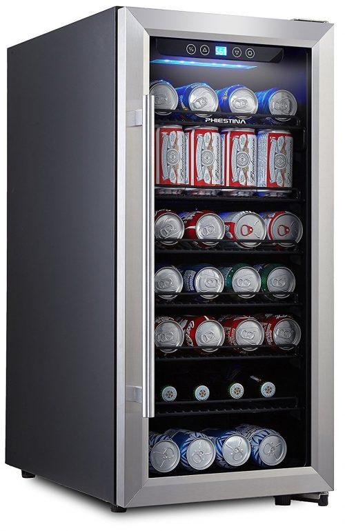 96 Can Built-in or Free Standing Beverage Fridge with Glass Door