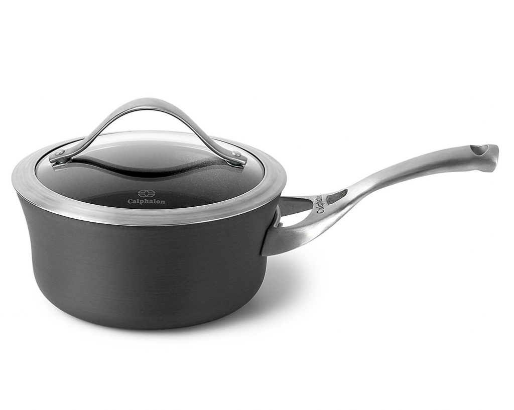 12. Calphalon Contemporary Hard-Anodized Aluminum Nonstick Cookware, Sauce Pan
