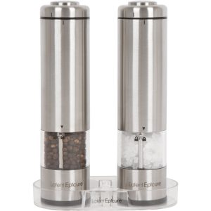 3. Latent Epicure Battery Operated Salt and Pepper Grinder Set