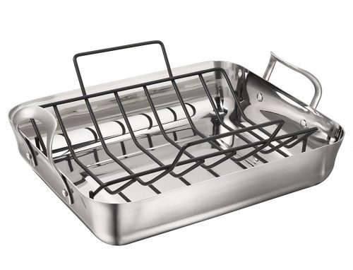 4. Calphalon Contemporary 16-Inch Stainless Steel Roasting Pan with Rack