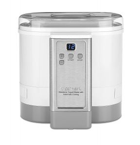 4. Cuisinart CYM-100 Electronic Yogurt Maker with Automatic Cooling,3.12lb Jar capacity,(1.5L)