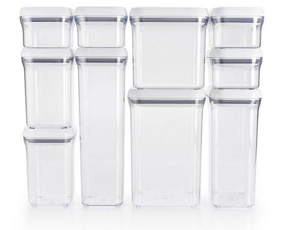 4. OXO Good Grips 10-Piece Airtight Food Storage POP Container Value Set