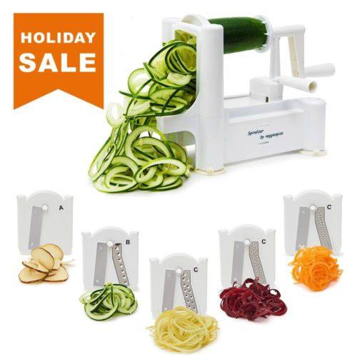 5 Blade Spiralizer - Spiral Slicer, Vegetable Maker, Shredder