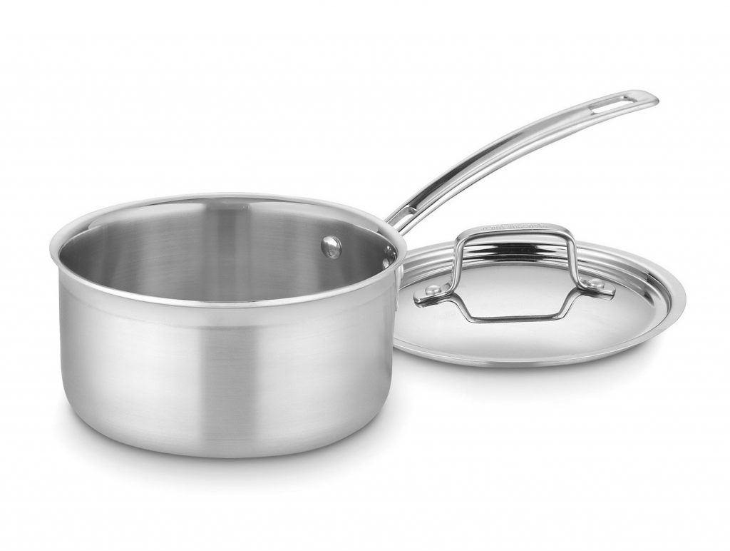 5. Cuisinart MCP19-18N MultiClad Pro Stainless Steel 2-Quart Saucepan with Cover