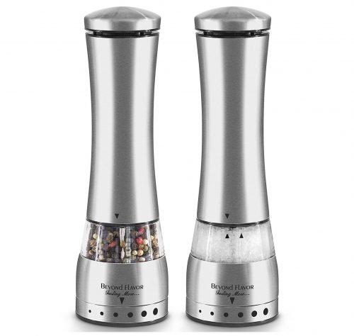 6. Electric Salt & Pepper Grinder Set By Beyond Flavor