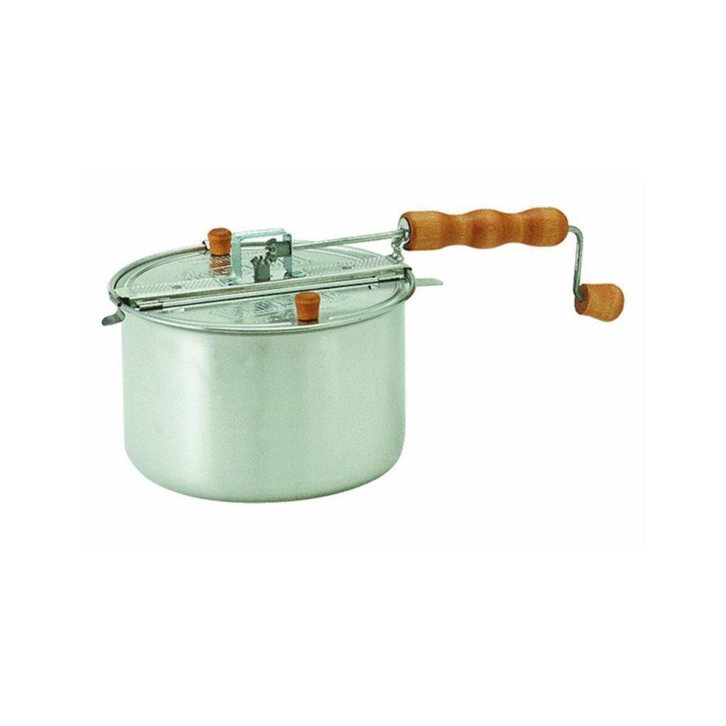 Stainless steel popcorn maker