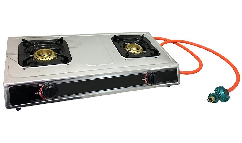 7. #1 Double Burner Stove Gas Propane Stove Cooktop Commercial Outdoor Whirlwind Burner Camp Cooking