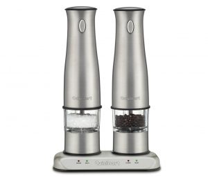 8. Cuisinart SP-2 Stainless Steel Rechargeable Salt and Pepper Mills
