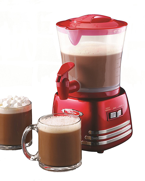 Nostalgia HCM700RETRORED Retro Series 32-Ounce Hot Chocolate Maker with Easy-Pour Spigot