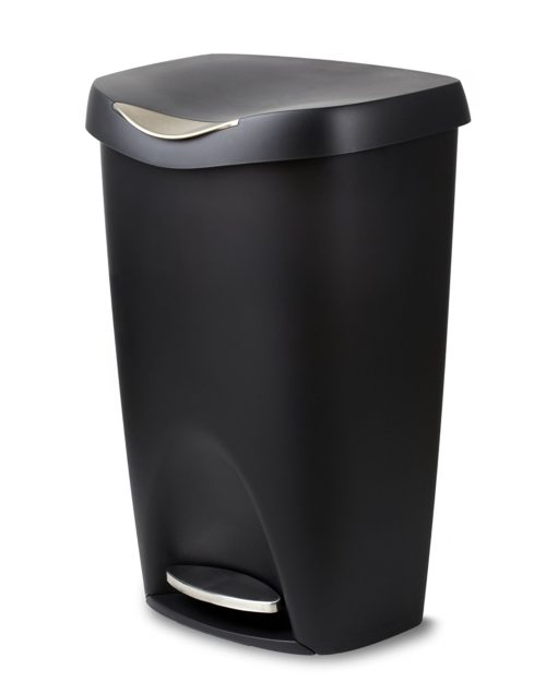 Umbra Brim Large Kitchen Trash Can with Stainless Steel Foot Pedal