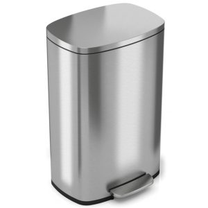 iTouchless SoftStep 13.2 Gallon Stainless Steel Step Trash Can