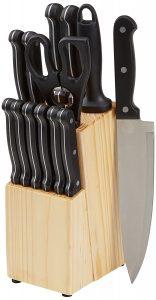 5. AmazonBasics 14-Piece Knife Set
