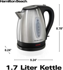 Hamilton Beach Electric Tea Kettle Cordless