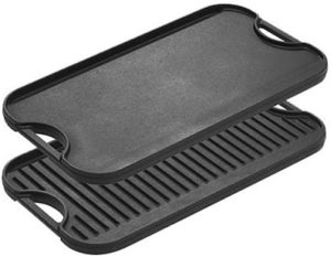 "Griddle Pan with Easy-Grip Handles, 10.5"" x 20"