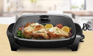 electric skillet with removable base