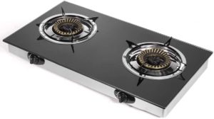 2-Burner Cooktop Auto Ignition Camping Stoves