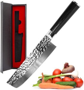 Multipurpose Asian Nakiri Vegetable Cleaver Knife for Home and Kitchen with Ergonomic Handle