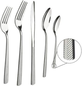 black plastic utensils