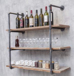 kitchen wall racks and shelves