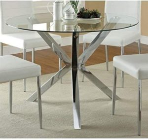 dining table set with glass top