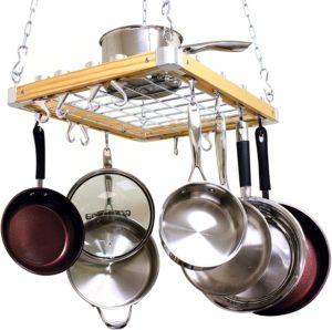 heavy duty hanging pot rack