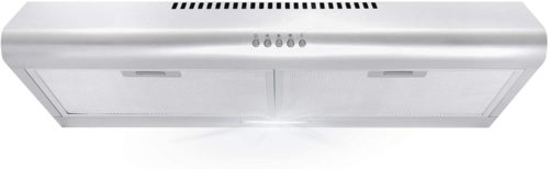 Under Cabinet Range Hood with Ducted / Ductless Convertible Duct, Slim Kitchen Stove Vent with, 3 Speed Exhaust Fan