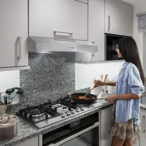Ductless Convertible Slim Kitchen Over Stove Vent
